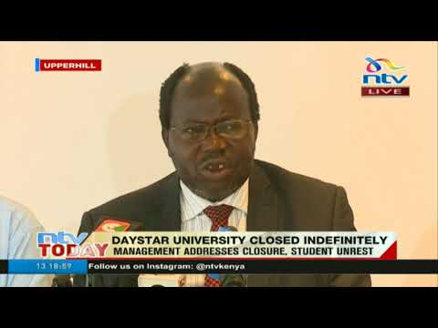 Daystar university acting VC addresses closure, student unrest