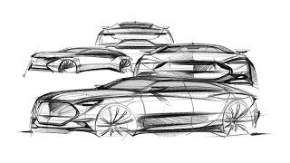 Basic car sketch(Front Quarter View)
