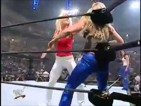 Torrie Wilson slaps the Hell out of Trish Stratus