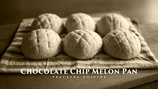 [No Music] How to Make Chocolate Chip Melon Pan