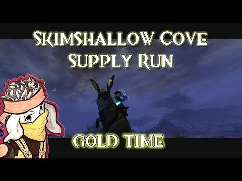 Guild Wars 2: Path of Fire - Skimshallow Cove Supply Run | GOLD | TIPS ON SCREEN