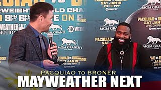 PACQUIAO: I NEED TO GET PAST BRONER BEFORE MAYWEATHER