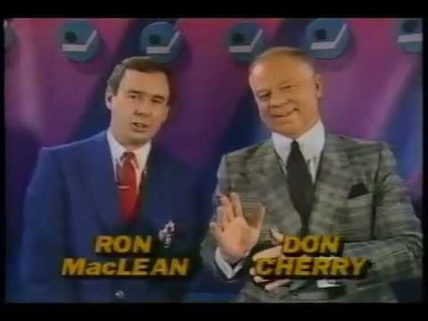 Classic clips of Don Cherry and Ron MacLean from Coach's Corner