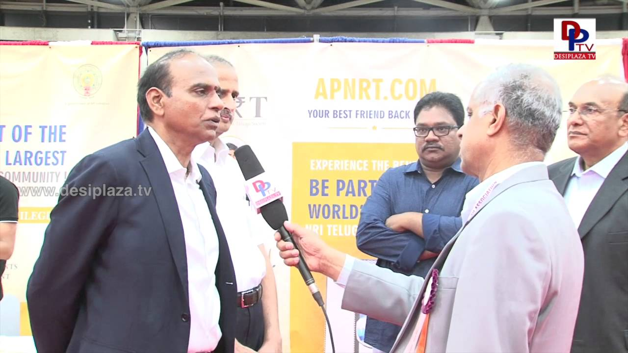 Dr.Ravikumar Vemuru from APNRT speaking to Desiplaza TV  at NATA Convention 2016