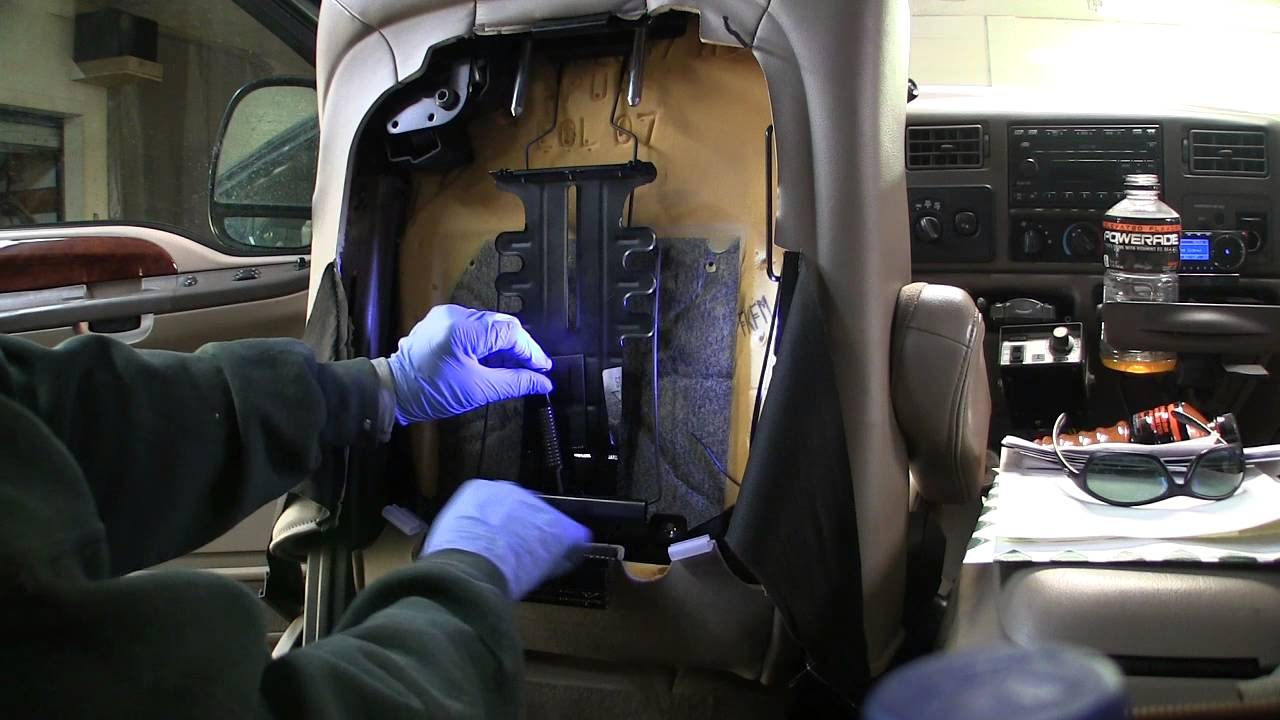 How to repair broken lumbar support on Ford Superduty