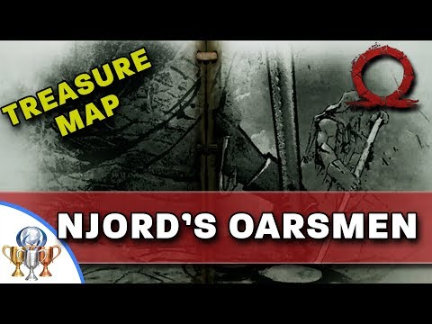 God of War Treasure Map - Njord's Oarsmen - Map and Dig Spot Locations (Bonus Platinum Trophy Pop)