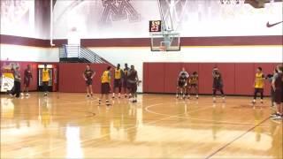 Gopher basketball practice