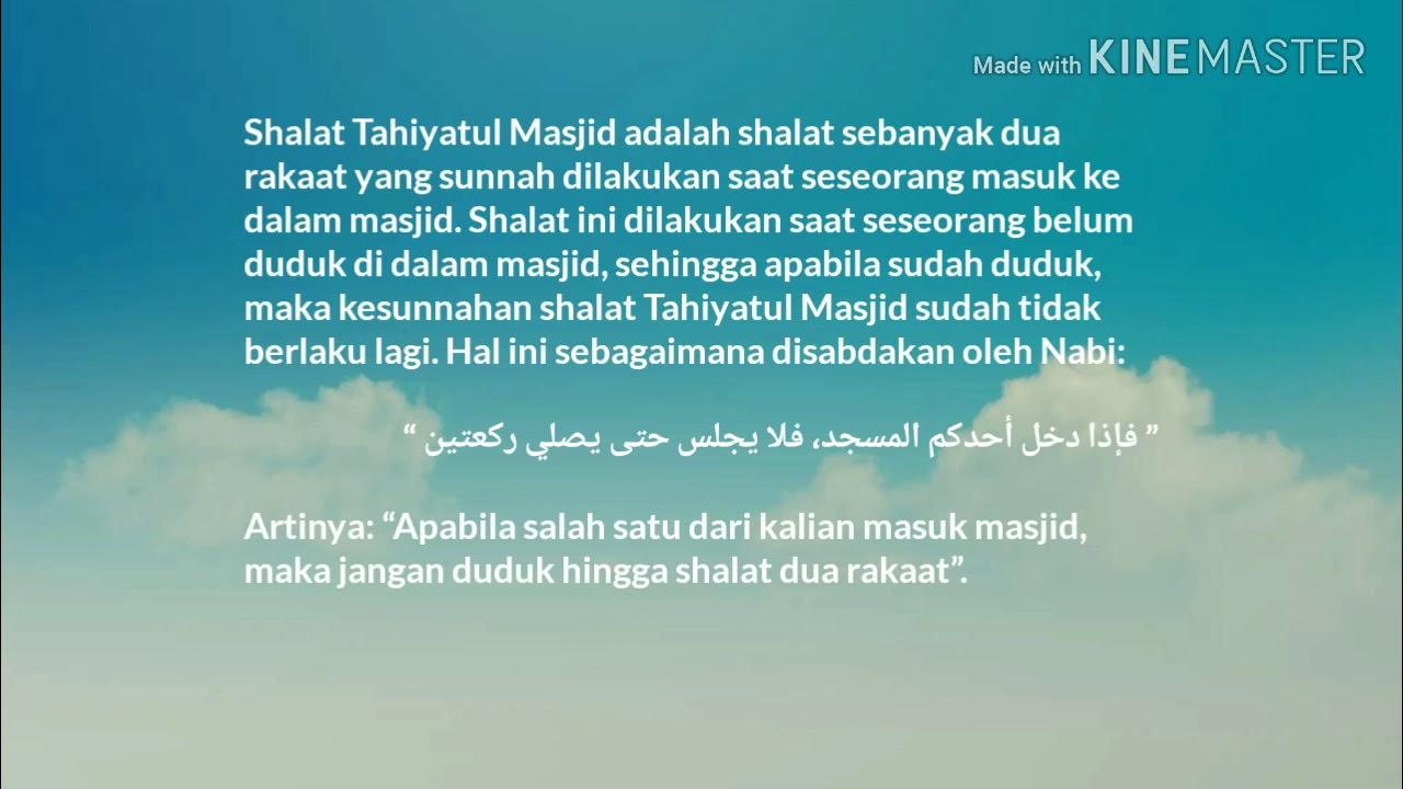 Shalat Tahiyatul Masjid Youtube