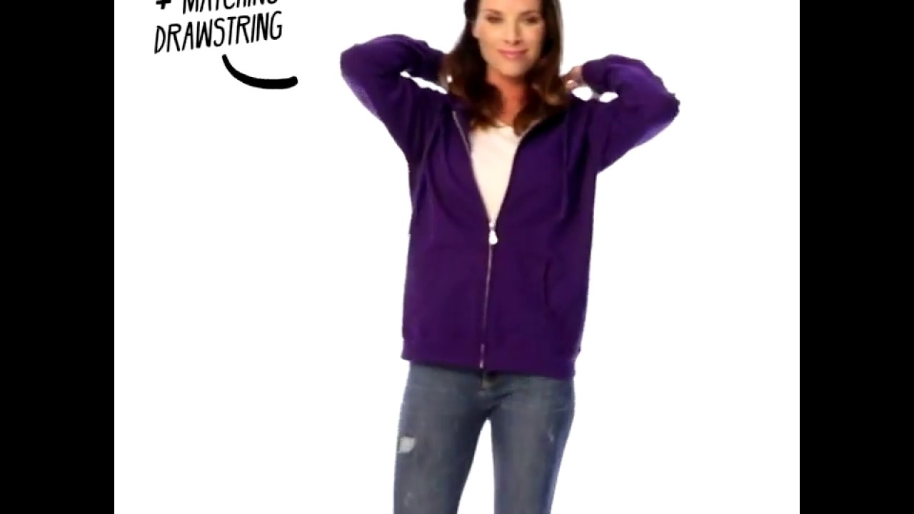 Gildan 18600FL női cipzáros kapucnis pulóver  d176dd0332