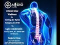 Webinar On Coding for Spine Surgery in 2018