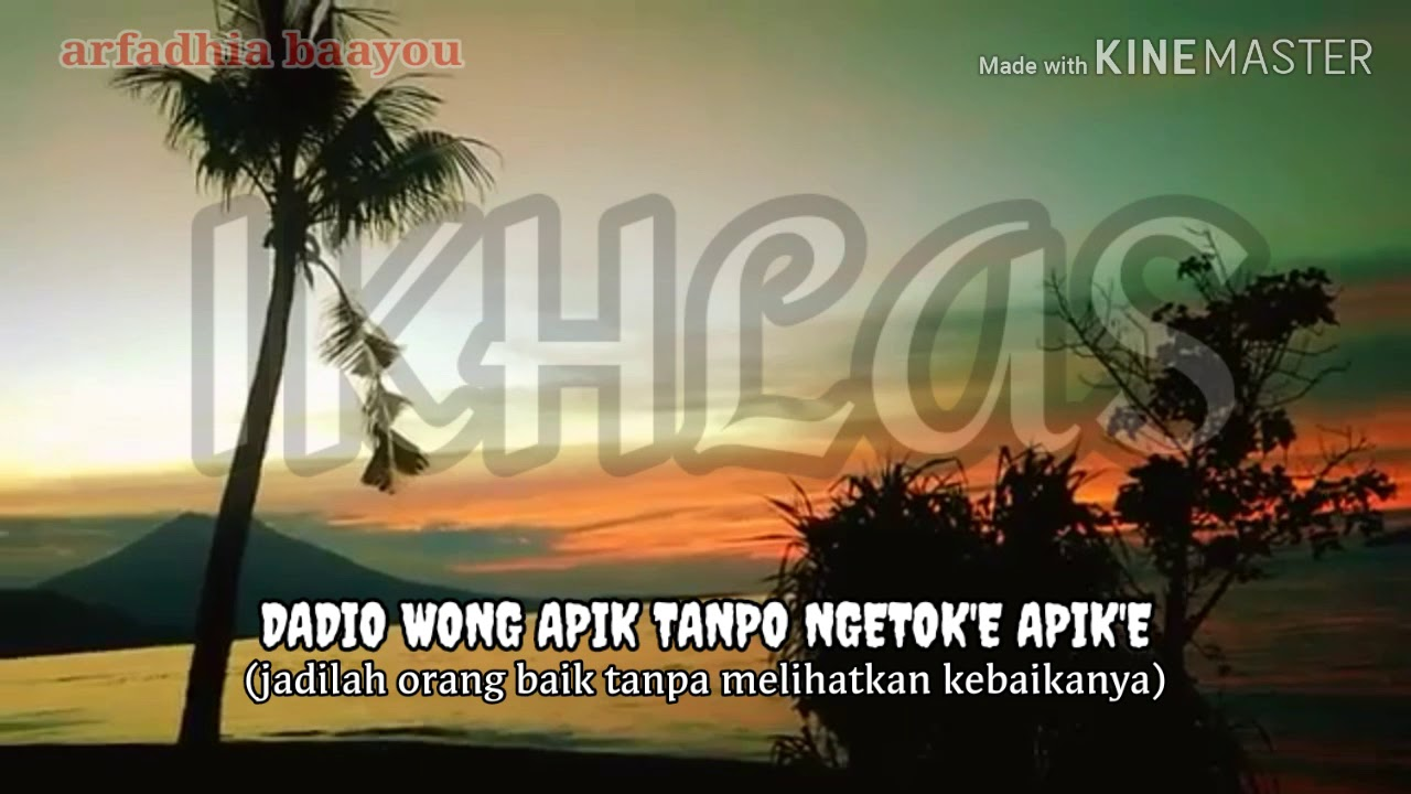 IKHLAS) Kata Kata Bijak Jawa & Bahasa Indonesia - YouTube