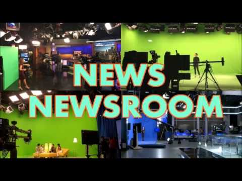 TV studio lighting for LED television weather, newsroom, news set design