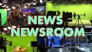 TV studio lighting for LED television weather, newsroom, news set design
