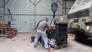 Démarrage d'un moteur diesel Perkins (restauration Brockway C666)