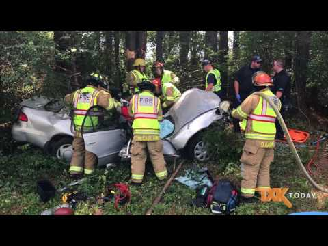 Texarkana, Texas Firefighters Extricate Man From Wreck