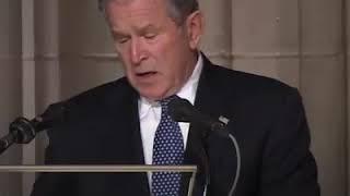 George Bush on George H. W. Bush's funeral