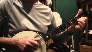 KATIE, BAR THE DOOR, Clawhammer Banjo