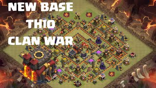 Clash of Clans - NEW BASE TH10 CLAN WAR 275 WALLS - NOUVELLE BASE HDV10 GUERRE DE CLAN 275 REMPARTS