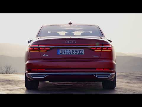 Organic-LED state of the art rearlights of the Audi A8 (D5)