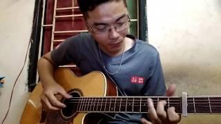Hỏi Thăm Nhau | Lê Bảo Bình | Guitar Cover ( Có tab intro)