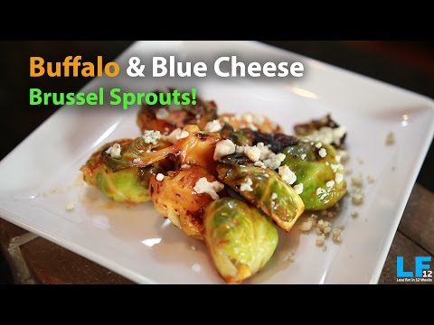 Buffalo & Blue Cheese Brussel Sprouts Healthy Recipe