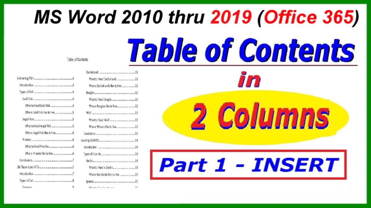 two columns word