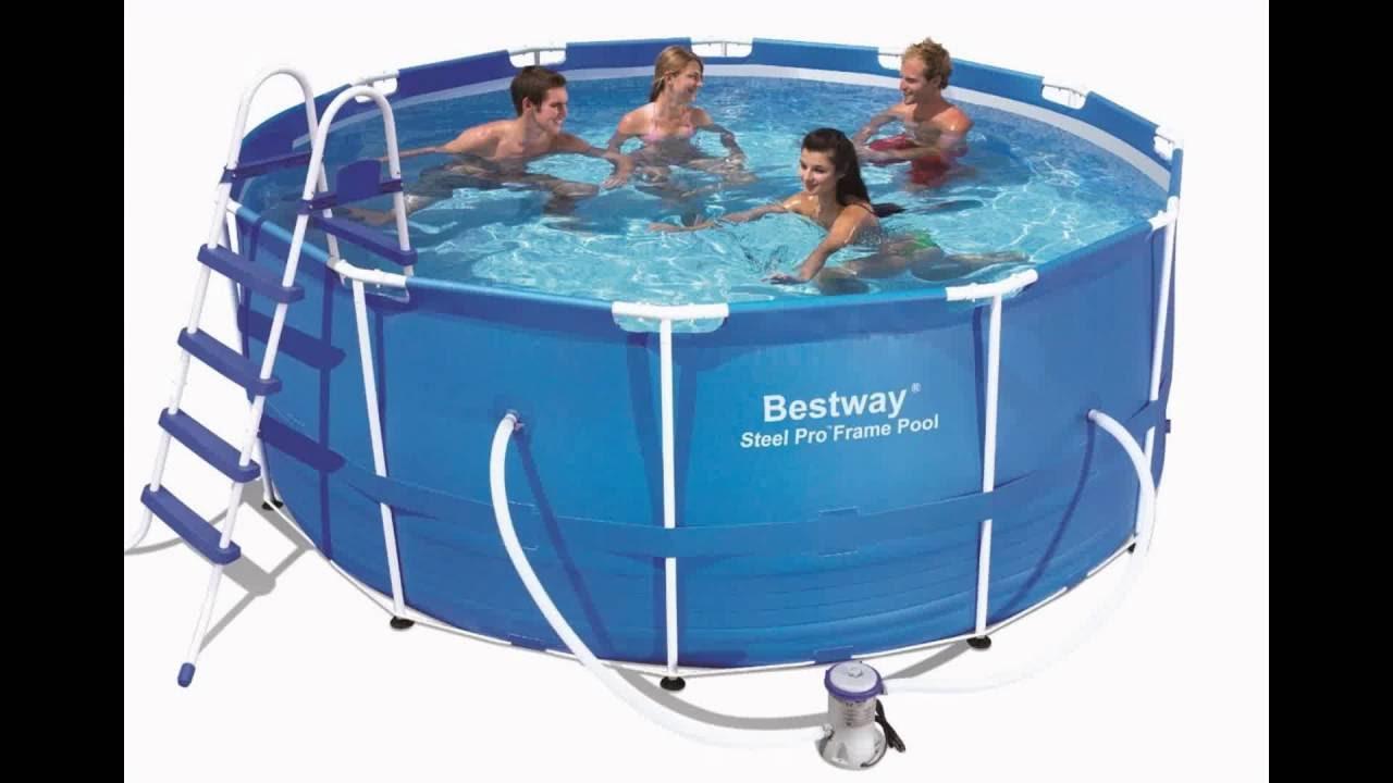 Bestway 56087US Steel Pro Frame Pool Set, 12-Feet by 48-Inch - YouTube