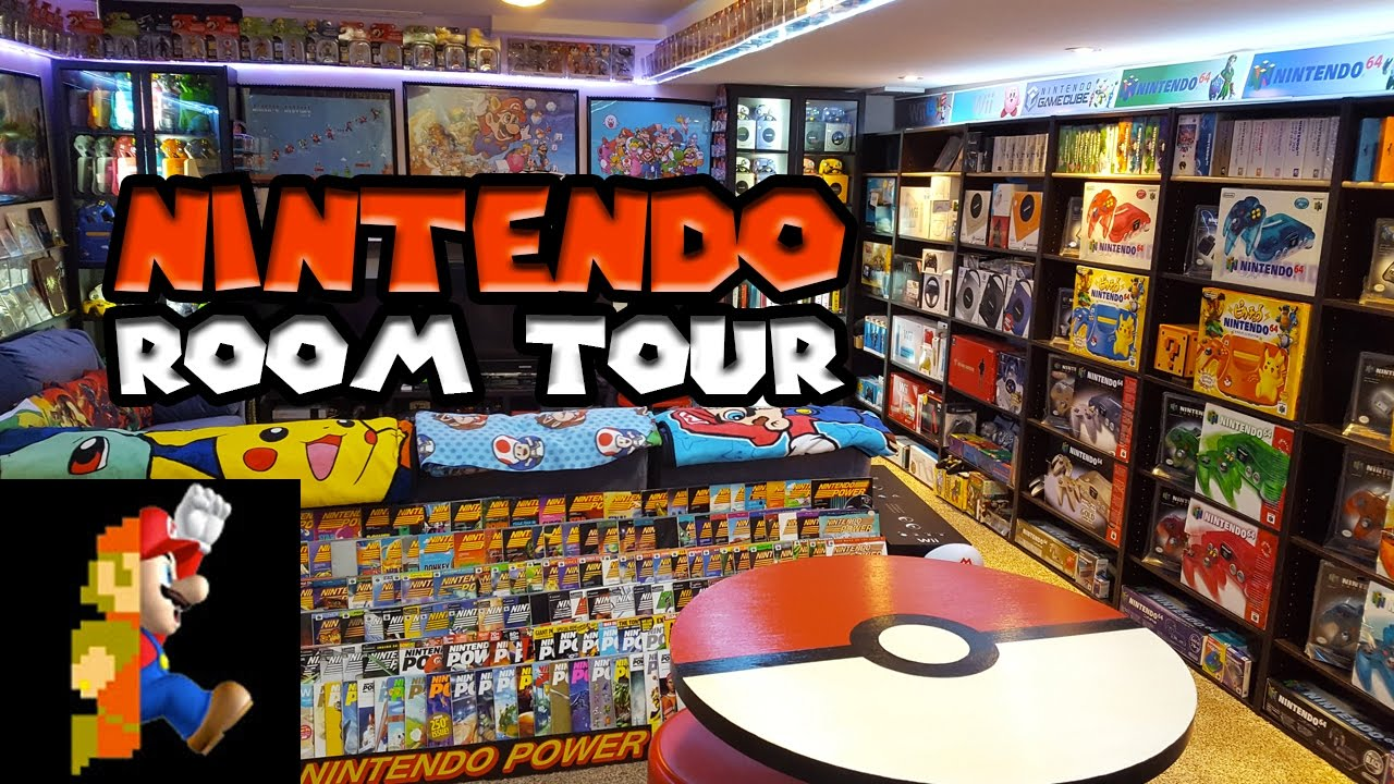 Nintendo Room Tour 2017 | Nintendo Collecting - YouTube