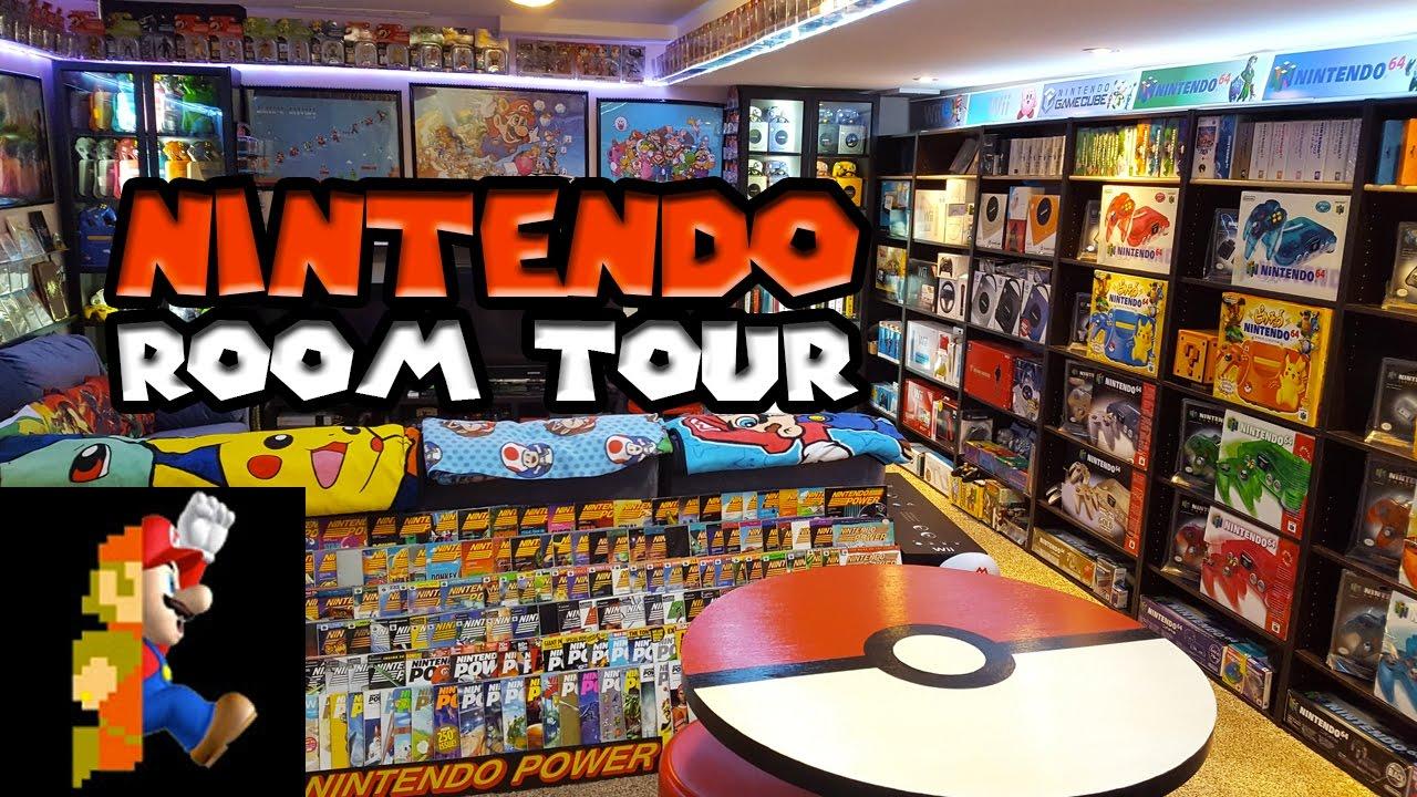 Nintendo Room Tour 2017 | Nintendo Collecting - YouTube