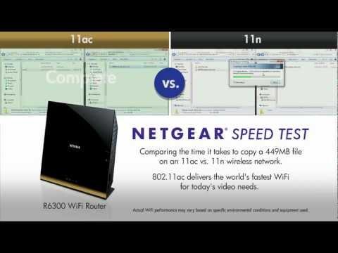 NETGEAR 802.11ac Speed Test