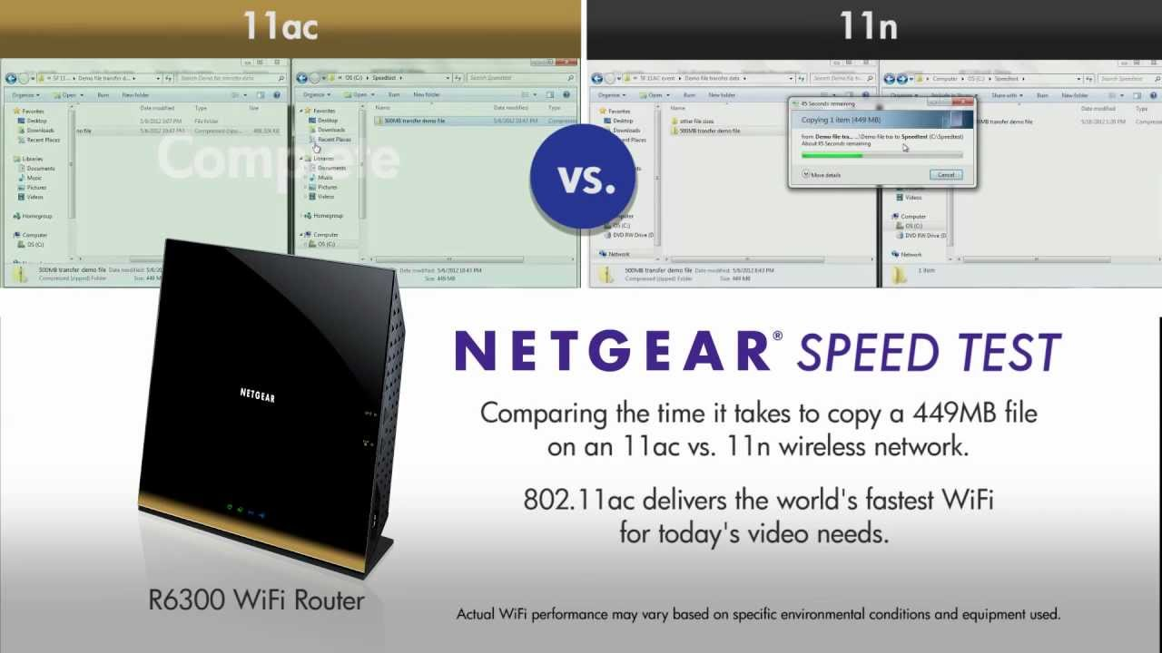 netgear router how to show connection speed