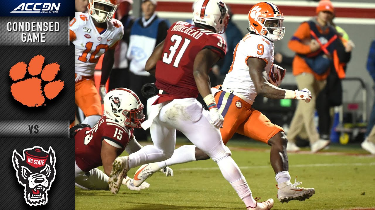 Clemson Vs North Carolina State Condensed Game Acc Football 2019 20