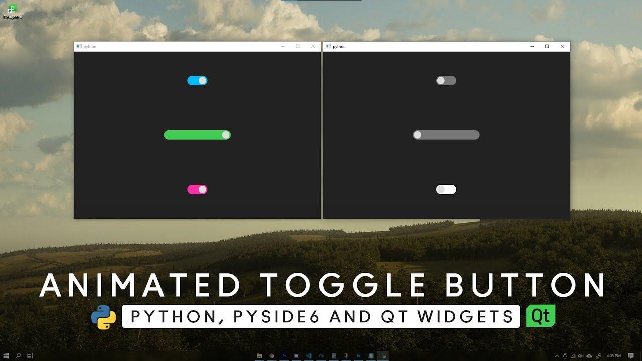 TUTORIAL - Animated Toggle Button - [ Python, PySide6, Qt Widgets ] - MODERN GUI - Custom Widget