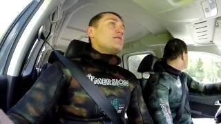 Видео   Подводная охота с гарпуном в обычном озере   Видеоролики на Sibnet