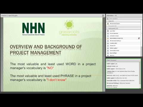 Humanitarian Project Management Session 1