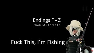 Nier Automata: All Joke Endings F -  Z (English)