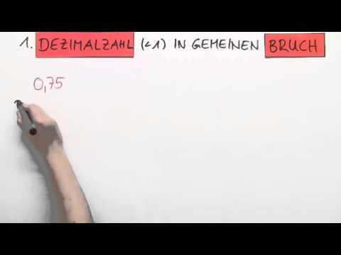 dezimalzahlen in brüche umrechnen | mathematik | algebra - youtube