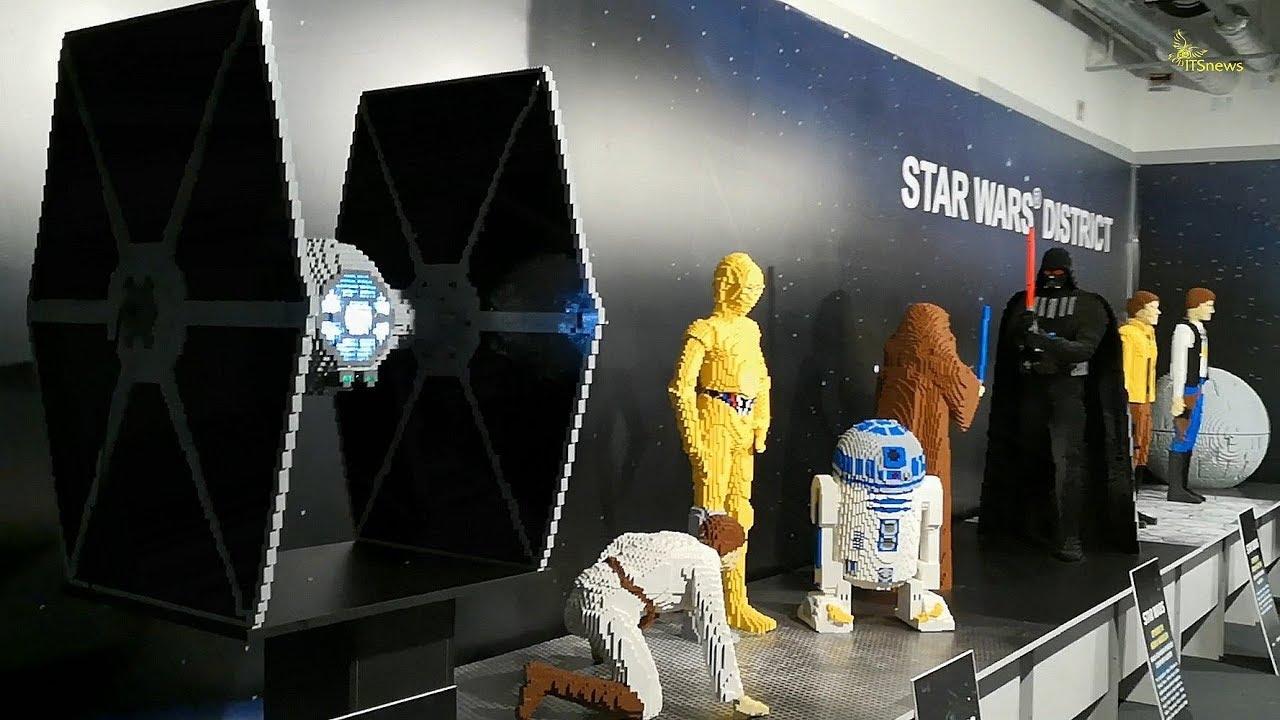 STAR WARS district z klocków Lego. Wystawa Budowli z Klocków Lego.PGE Narodowy.