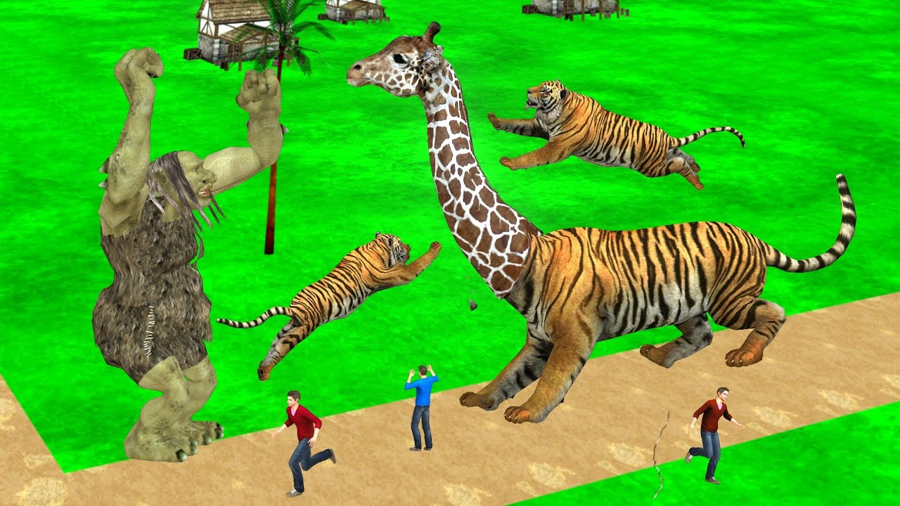 जादुई Tiger Giraffe Kahani Magical Door Story हिंदी कहानियां 3D Hindi Kahaniya New Hindi Stories