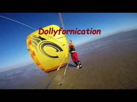 Kitesurfing at Dollymount beach, Dublin , Ireland