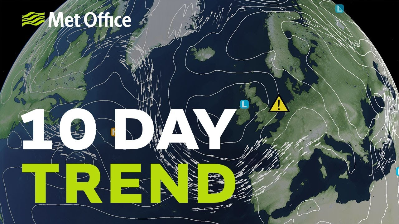 10 Day Trend - What next after the thunderstorms? 12/08/20