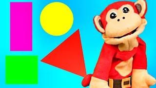 Canciones Infantiles - Las Figuras Geométricas El Mono Sílabo - Videos para niños #
