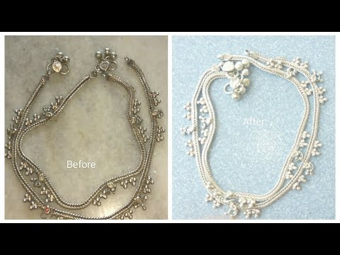 How to clean silver Anklets at home