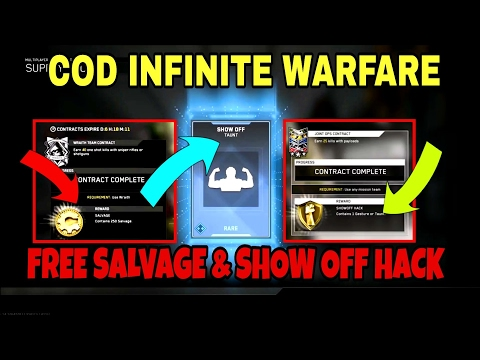 """*NEW* COD INFINITE WARFARE CONTRACTS """"FREE SALVAGE AND SHOW OFF HACK!"""""""