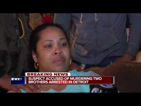 Suspect arrested in murder of two brothers in northwest Detroit