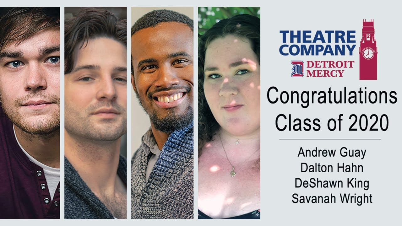 Department of Performing Arts and Detroit Mercy Theatre Company gives a standing ovation to four graduating students who have earned a Bachelor of Arts degree with a major in theatre.