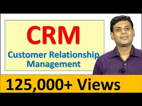 CRM Customer Relationship Management - Marketing Video Lecture by Prof Vijay Prakash Anand
