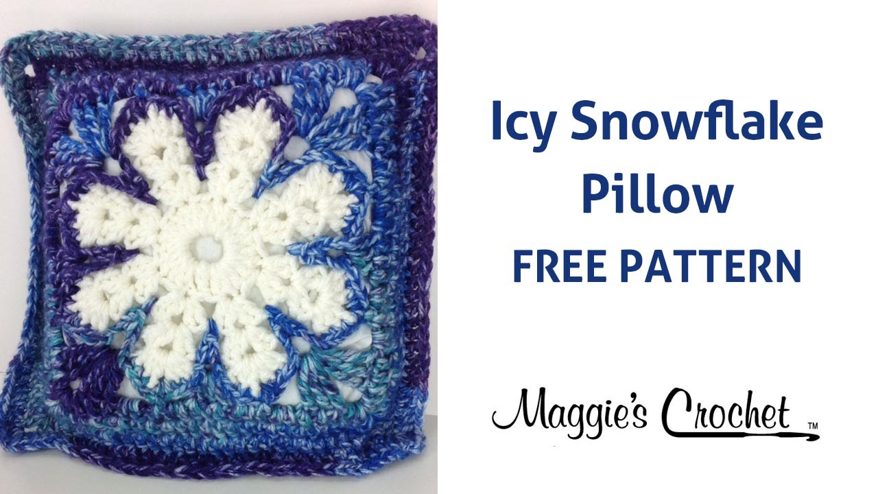 Icy Snowflake Pillow Free Crochet Pattern - Right Handed - YouTube