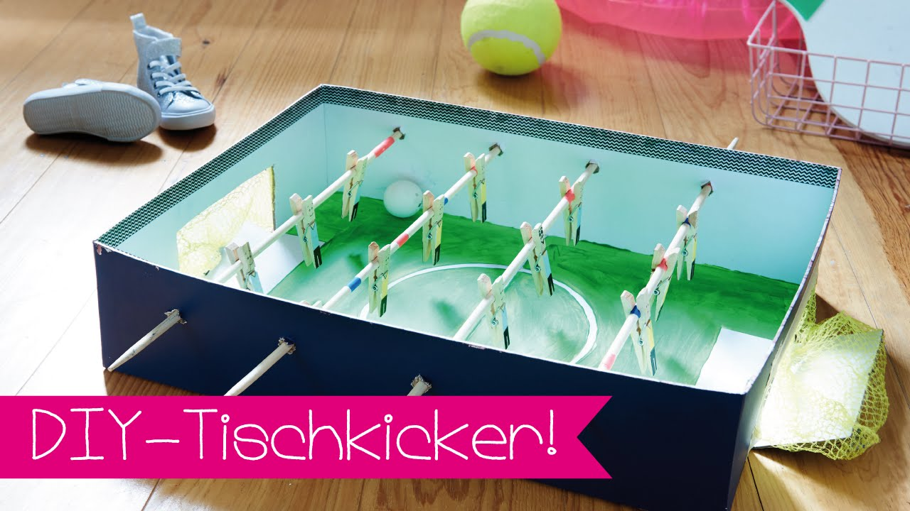 diy tischkicker selber bauen i diy i fussball youtube. Black Bedroom Furniture Sets. Home Design Ideas
