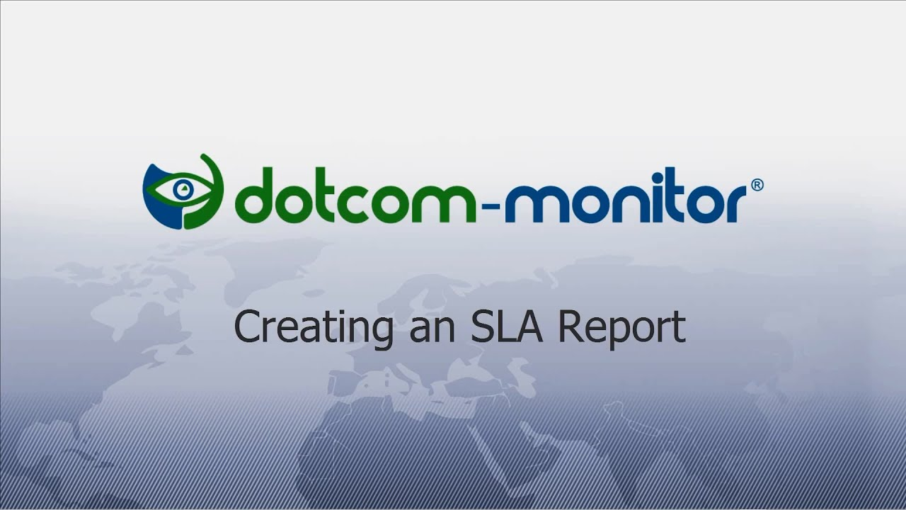 How To Creating A Service Level Agreement Sla Report Website